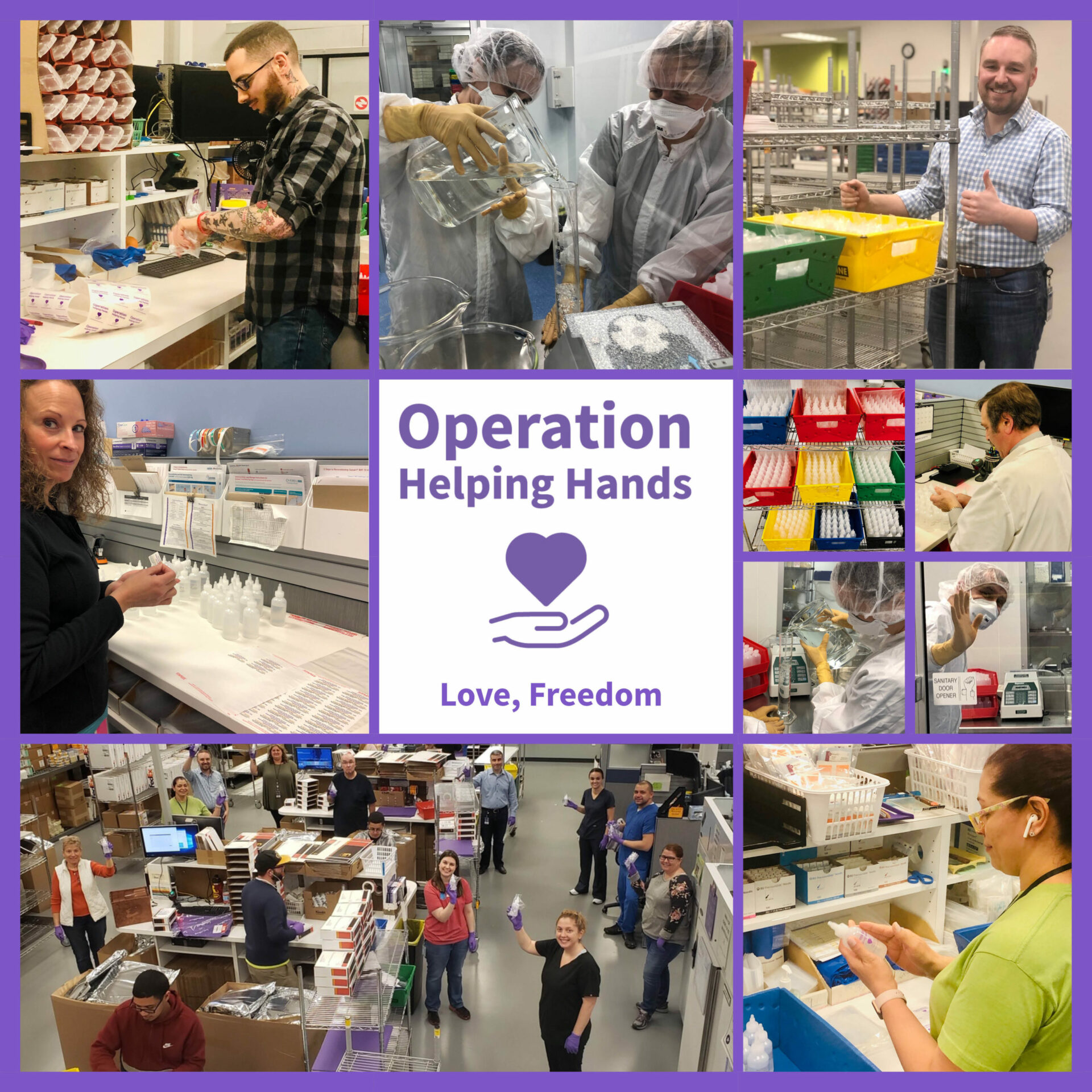 Making Sanitizer to Keep Nurses and Patients Safe